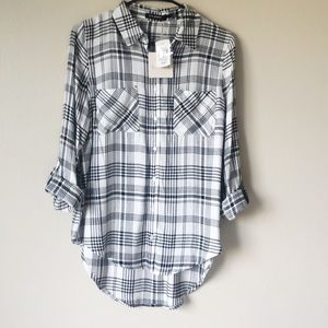 NWT Blu pepper Plaid Flannel Women Shirt